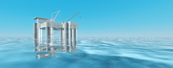 Artist's impression of a large OTEC plant. Image by Lockheed Martin.